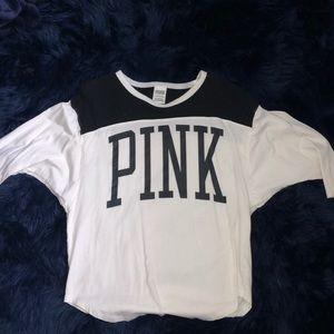 Pink medium sleeved shirt